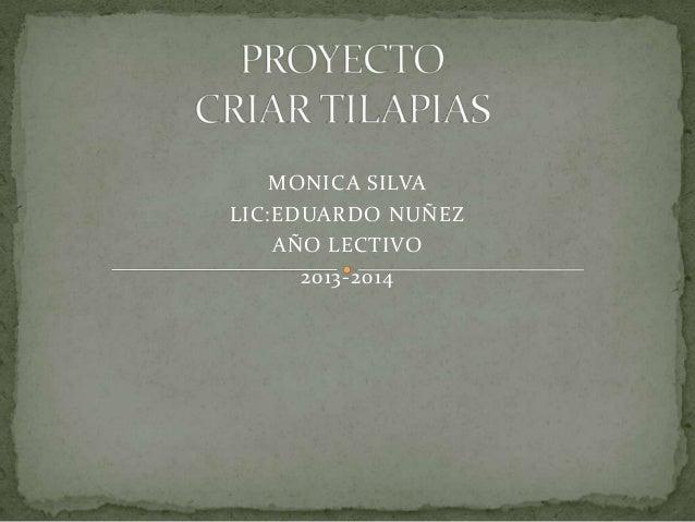 MONICA SILVA LIC:EDUARDO NUÑEZ AÑO LECTIVO 2013-2014