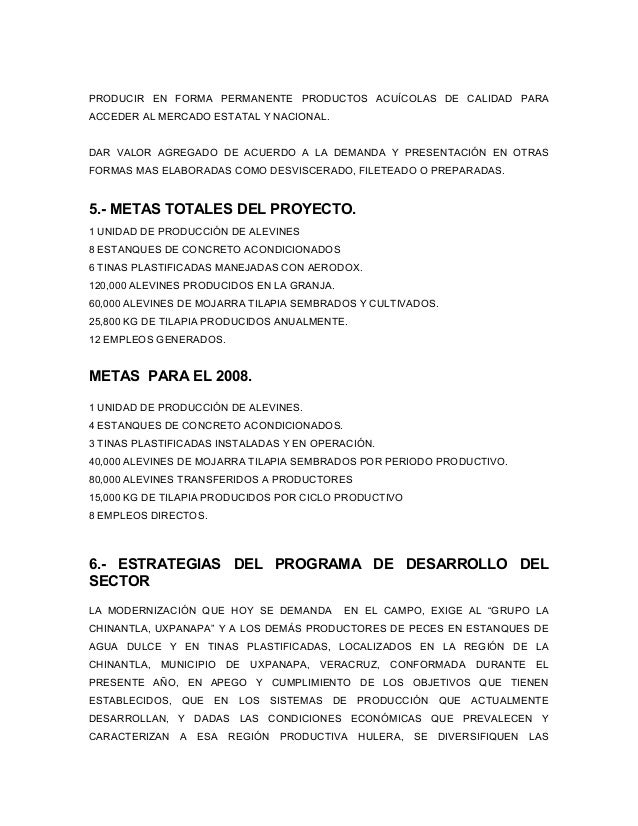 Proyecto acuicola uxpanapa funprover 2008 for Proyecto de tilapia en estanques