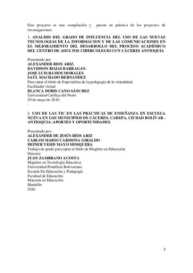 PROYECTO AMANTES DE LAS CIENCIAS Y LA NATURALEZA. LAS TIC Slide 2