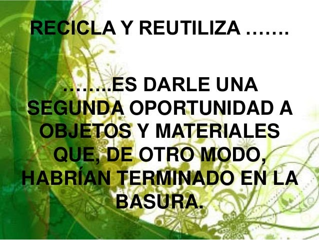 Proyecto ambiental 3 R's