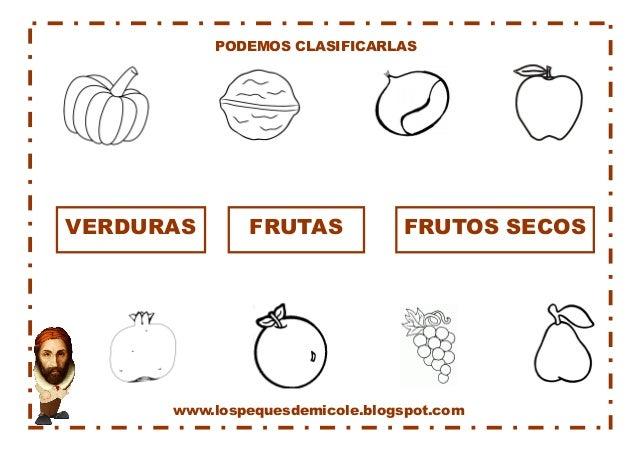 www.lospequesdemicole.blogspot.com  PODEMOS CLASIFICARLAS  VERDURAS  FRUTAS  FRUTOS SECOS