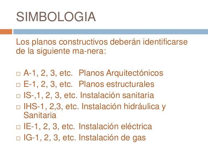 Proyecto arquitect nico for Simbologia en planos arquitectonicos