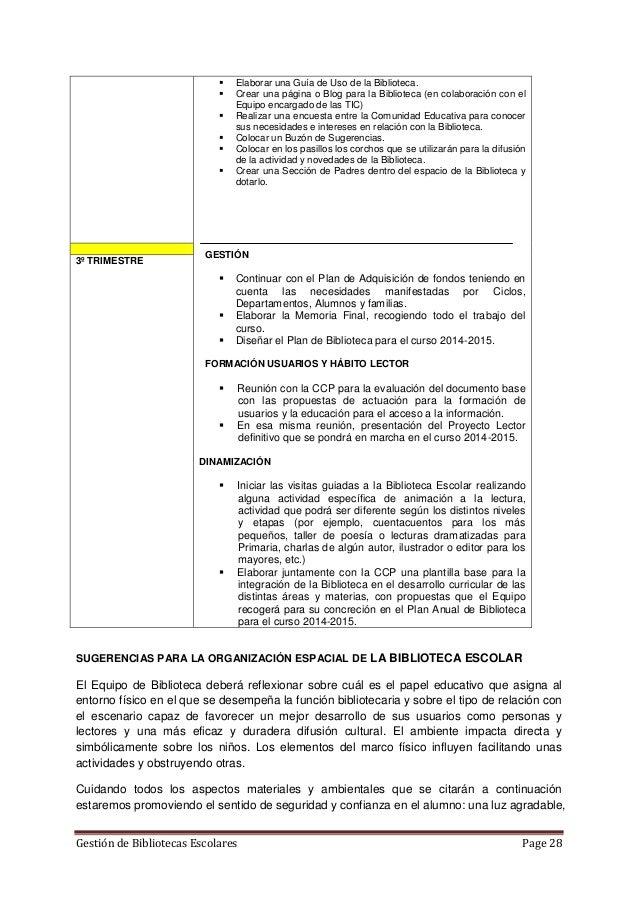 PROYECTO DE BIBLIOTECA ESCOLAR.