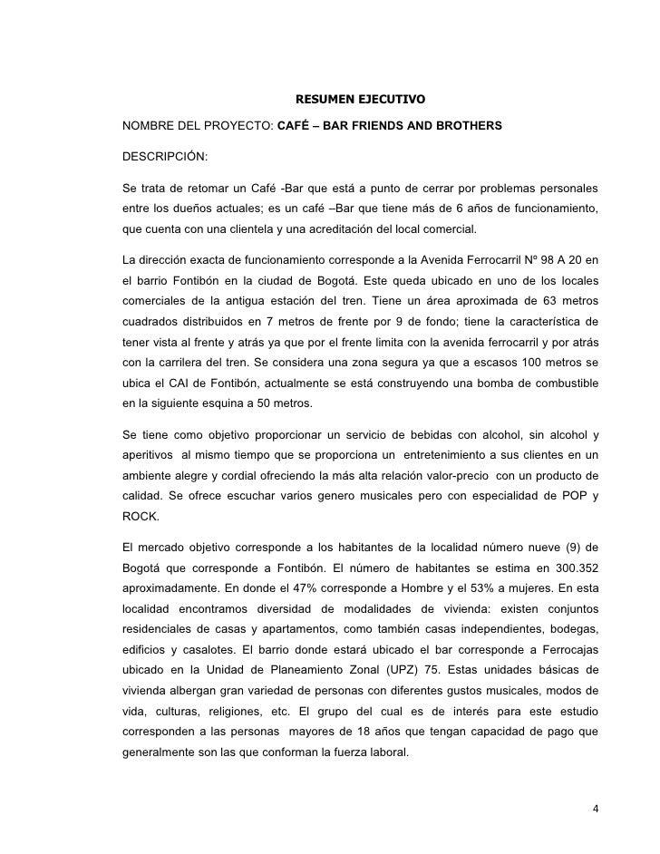 Nice Ejemplo De Conclusion De Un Resumen Ejecutivo Model - Resume ...