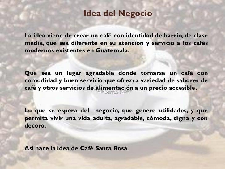 Proyecto Cafe Santa Rosa