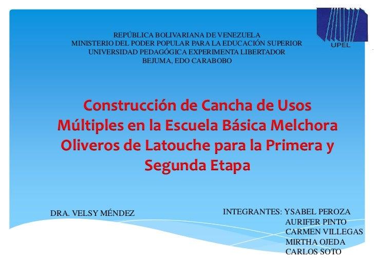 REPÚBLICA BOLIVARIANA DE VENEZUELA    MINISTERIO DEL PODER POPULAR PARA LA EDUCACIÓN SUPERIOR        UNIVERSIDAD PEDAGÓGIC...