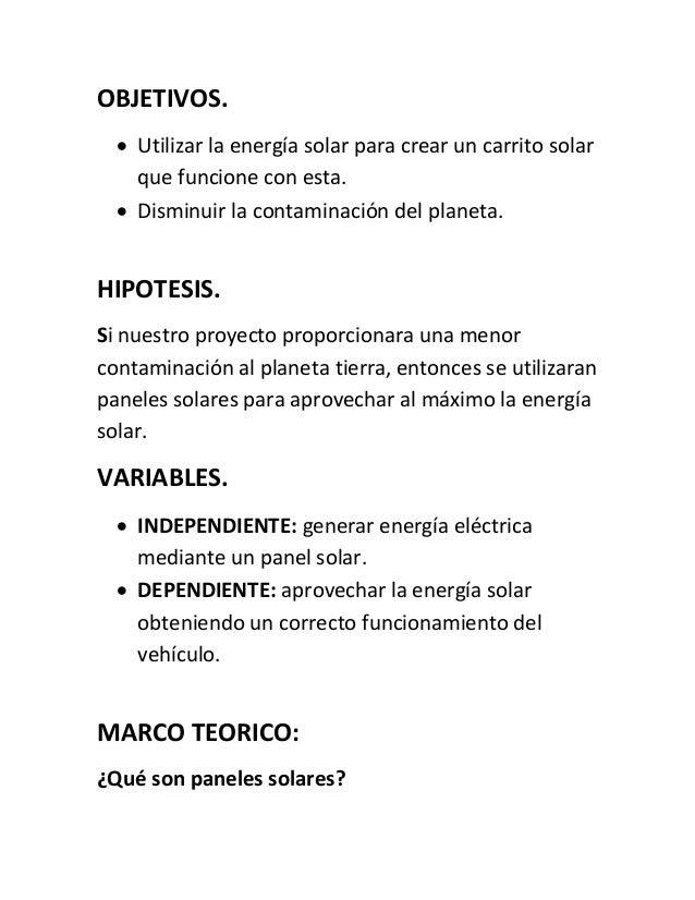 Proyecto Carro Solar