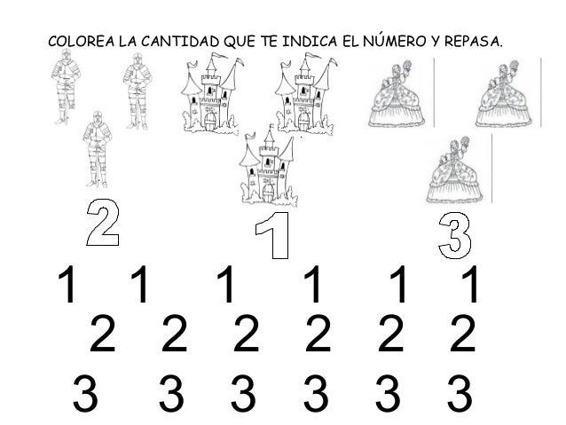 COLOREA LA CANTIDAD QUE TE INDICA EL NÚMERO Y REPASA.1 1 1 1 1 1  2 2 2 2 2 2 3 3 3 3 3 3