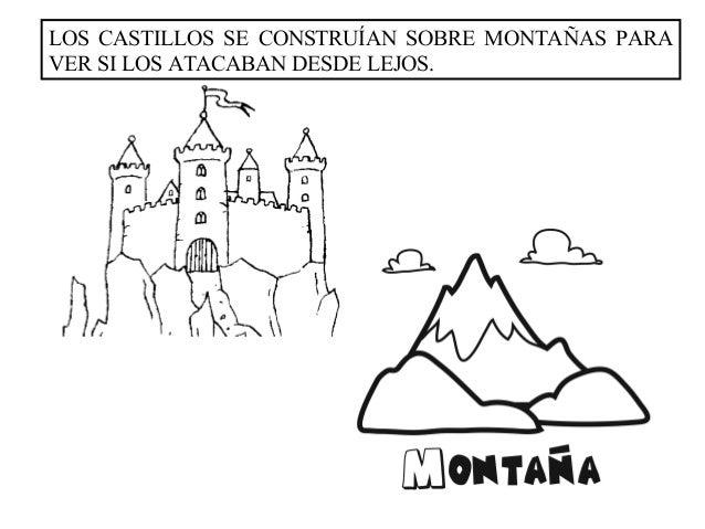 LOS CASTILLOS SE CONSTRUÍAN SOBRE MONTAÑAS PARAVER SI LOS ATACABAN DESDE LEJOS.