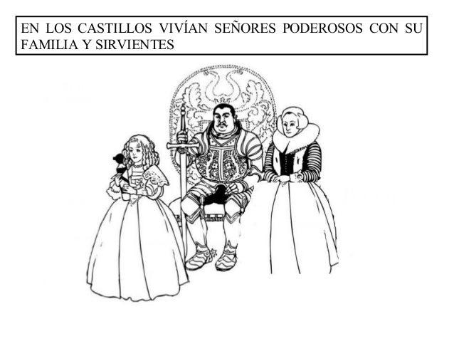 EN LOS CASTILLOS VIVÍAN SEÑORES PODEROSOS CON SUFAMILIA Y SIRVIENTES