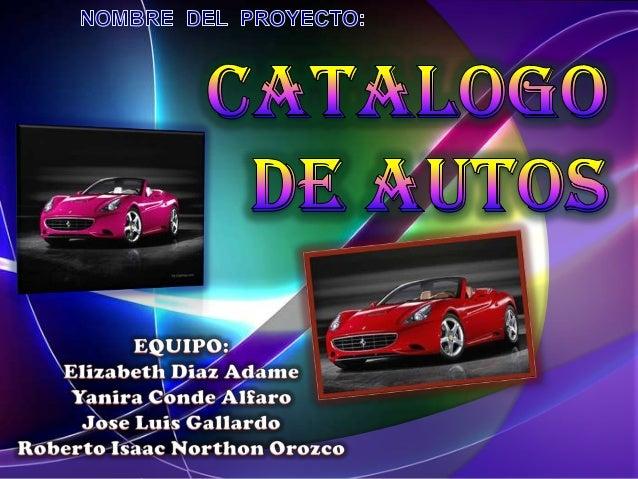 Proyecto catalogo de autos (expocarrera 2011)