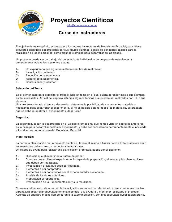 Proyectos Científicos                                           info@condor-tec.com.ar                                    ...