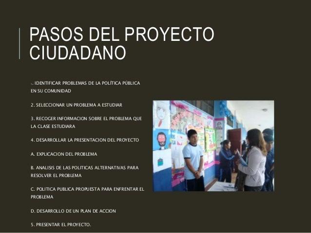 Proyecto ciudadano alumnos for Proyecto de construccion de aulas de clases
