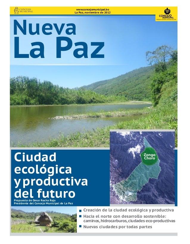 www.concejomunicipal.bo                                             La Paz, noviembre de 2012NuevaLa PazCiudadecológicay p...