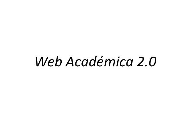 Web Académica 2.0