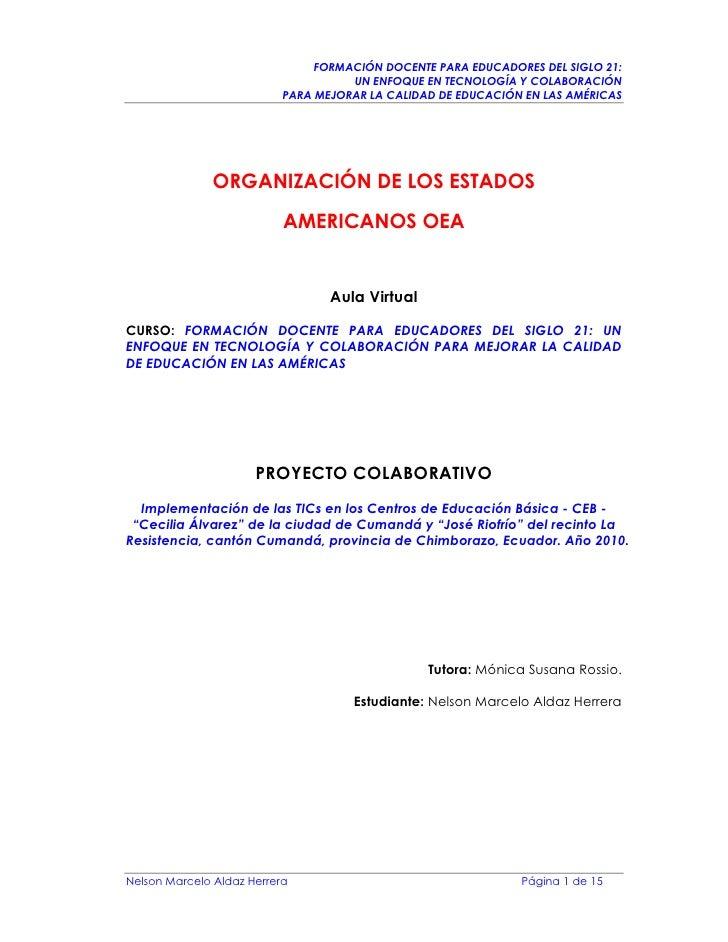 FORMACIÓN DOCENTE PARA EDUCADORES DEL SIGLO 21:                                      UN ENFOQUE EN TECNOLOGÍA Y COLABORACI...