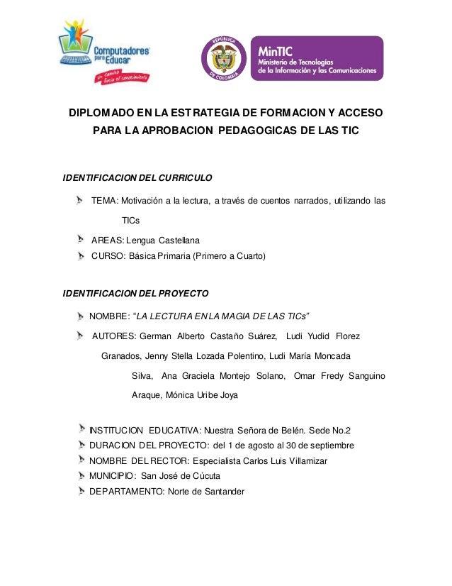 DIPLOMADO EN LA ESTRATEGIA DE FORMACION Y ACCESO PARA LA APROBACION PEDAGOGICAS DE LAS TIC IDENTIFICACION DEL CURRICULO TE...