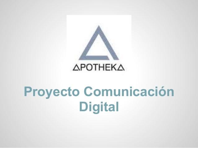 Proyecto ComunicaciónDigital