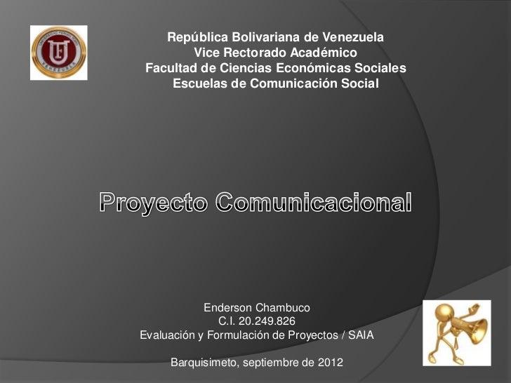 República Bolivariana de Venezuela         Vice Rectorado Académico Facultad de Ciencias Económicas Sociales     Escuelas ...