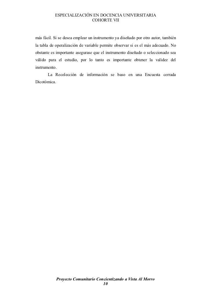 ESPECIALIZACIÓN EN DOCENCIA UNIVERSITARIA                           COHORTE VII    más fácil. Si se desea emplear un instr...