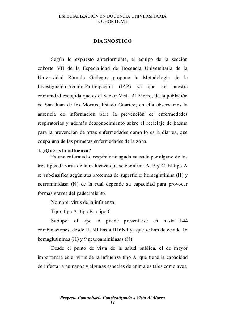ESPECIALIZACIÓN EN DOCENCIA UNIVERSITARIA                          COHORTE VII                              DIAGNOSTICO   ...