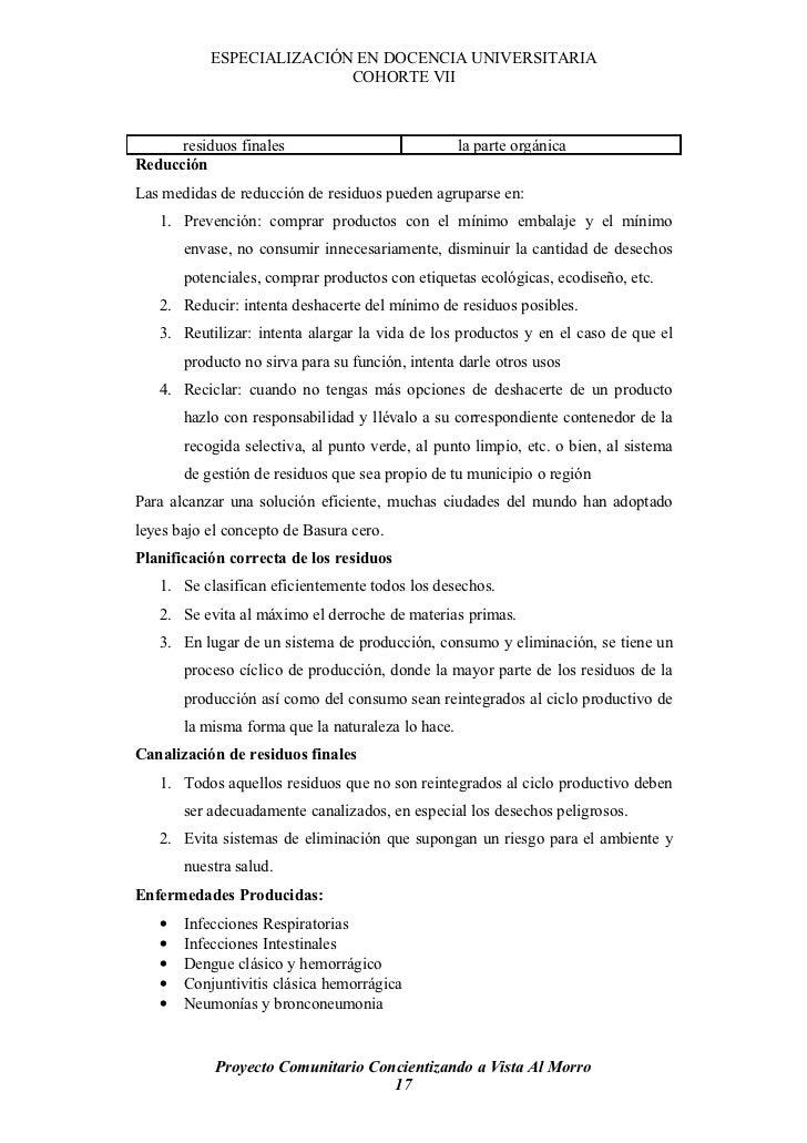 ESPECIALIZACIÓN EN DOCENCIA UNIVERSITARIA                           COHORTE VII          residuos finales                 ...