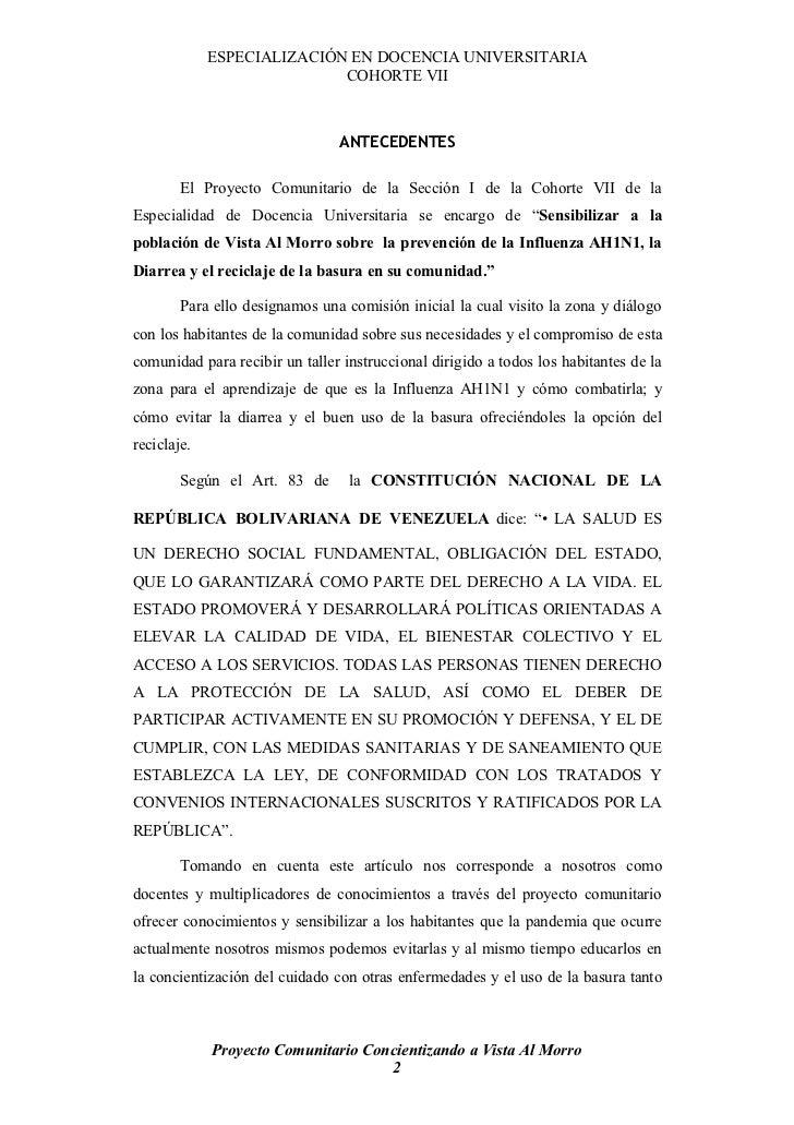 ESPECIALIZACIÓN EN DOCENCIA UNIVERSITARIA                             COHORTE VII                                    ANTEC...