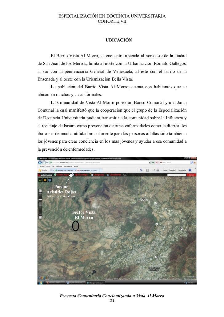 ESPECIALIZACIÓN EN DOCENCIA UNIVERSITARIA                           COHORTE VII                                          U...