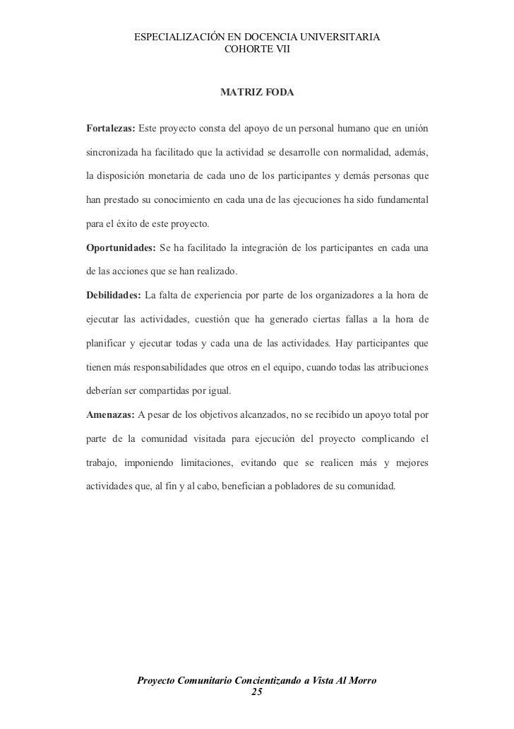 ESPECIALIZACIÓN EN DOCENCIA UNIVERSITARIA                            COHORTE VII                                      MATR...