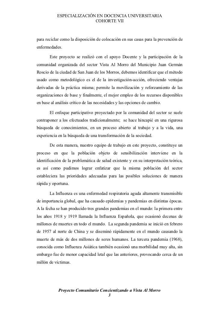 ESPECIALIZACIÓN EN DOCENCIA UNIVERSITARIA                           COHORTE VII    para reciclar como la disposición de co...