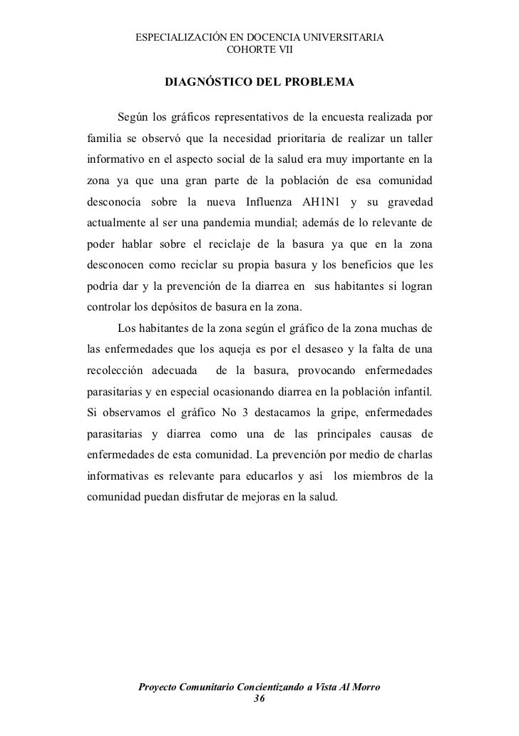 ESPECIALIZACIÓN EN DOCENCIA UNIVERSITARIA                          COHORTE VII                   DIAGNÓSTICO DEL PROBLEMA ...