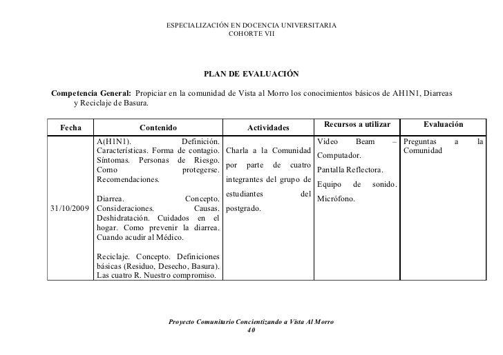 ESPECIALIZACIÓN EN DOCENCIA UNIVERSITARIA                                               COHORTE VII                       ...