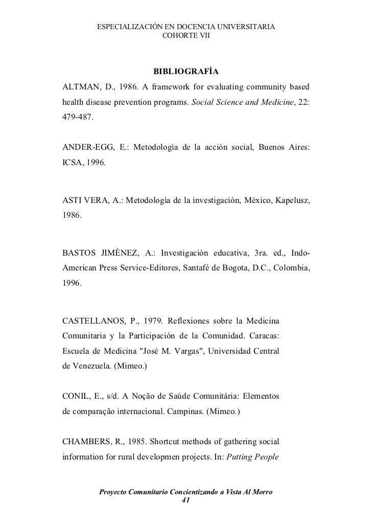 ESPECIALIZACIÓN EN DOCENCIA UNIVERSITARIA                           COHORTE VII                               BIBLIOGRAFÍA...