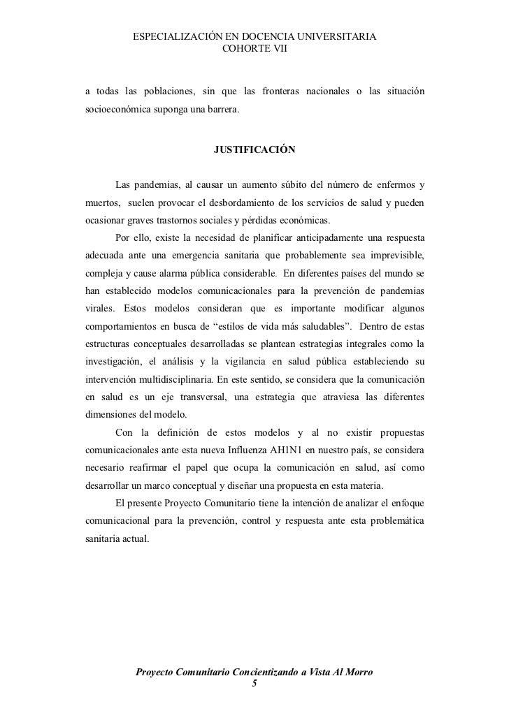 ESPECIALIZACIÓN EN DOCENCIA UNIVERSITARIA                            COHORTE VII    a todas las poblaciones, sin que las f...