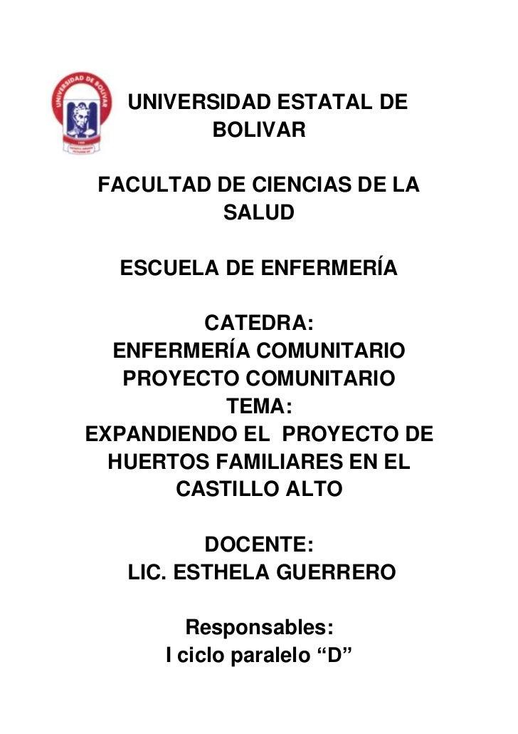 -396068-282278   UNIVERSIDAD ESTATAL DE BOLIVAR<br />FACULTAD DE CIENCIAS DE LA SALUD<br />ESCUELA DE ENFERMERÍA<br />CATE...
