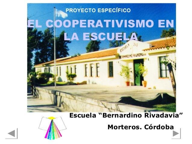 Proyecto el cooperativismo en la escuela Slide 2