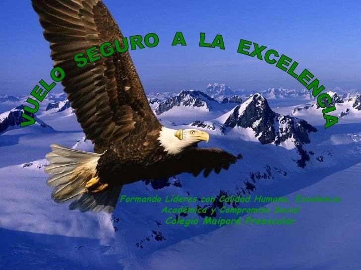 VUELO  SEGURO  A  LA  EXCELENCIA Formando Líderes con Calidad Humana, Excelencia Académica y Compromiso Social Colegio Mai...