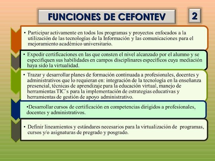 FUNCIONES DE CEFONTEV   3