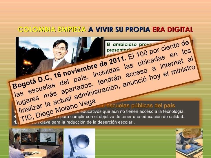 METAS DEL GOBIERNO PARA EL 2014Pasar de 2.2 millones a 8.8 millones de conexiones de internet alfinal de actual gobiernoMa...