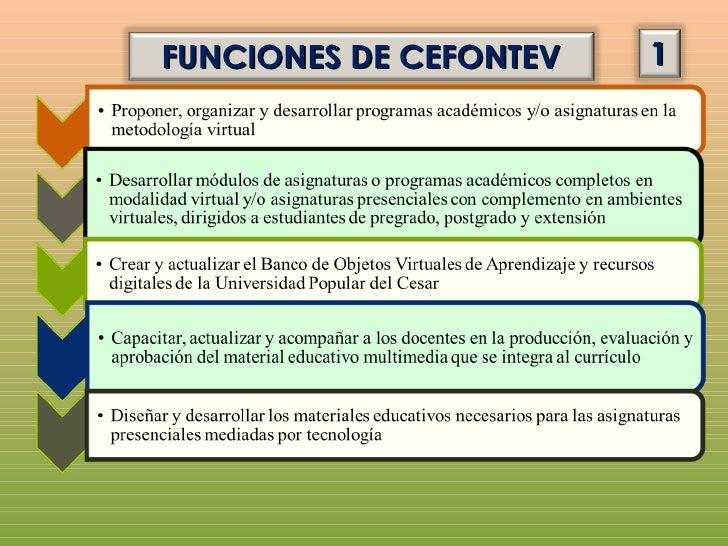 FUNCIONES DE CEFONTEV   2