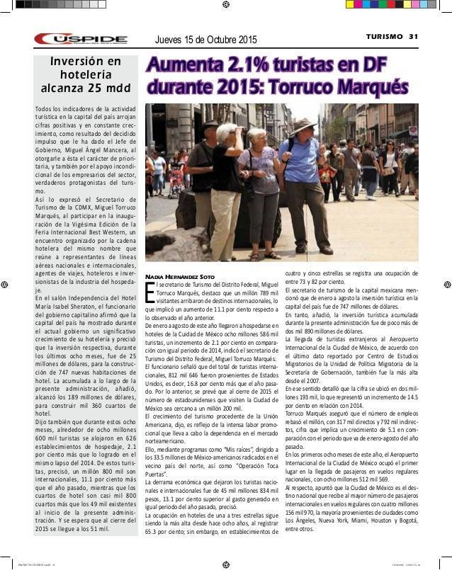 PERIÓDICO CÚSPIDE 15 OCTUBRE 2015