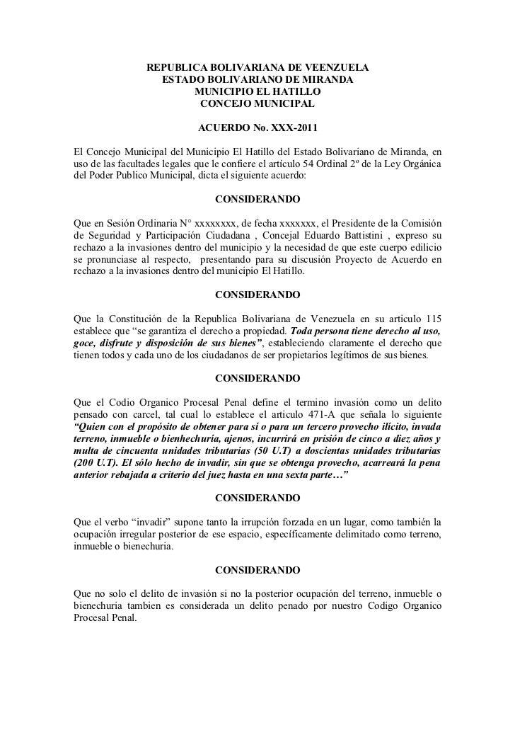 REPUBLICA BOLIVARIANA DE VEENZUELA                   ESTADO BOLIVARIANO DE MIRANDA                        MUNICIPIO EL HAT...