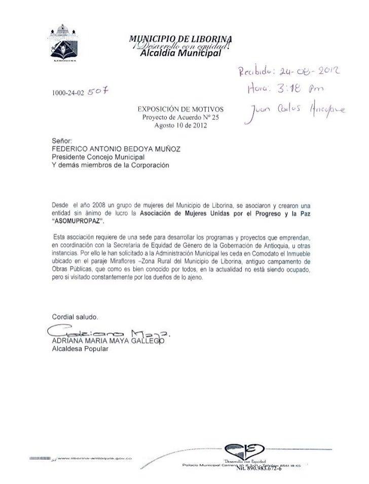 Proyecto de acuerdo nro 250001