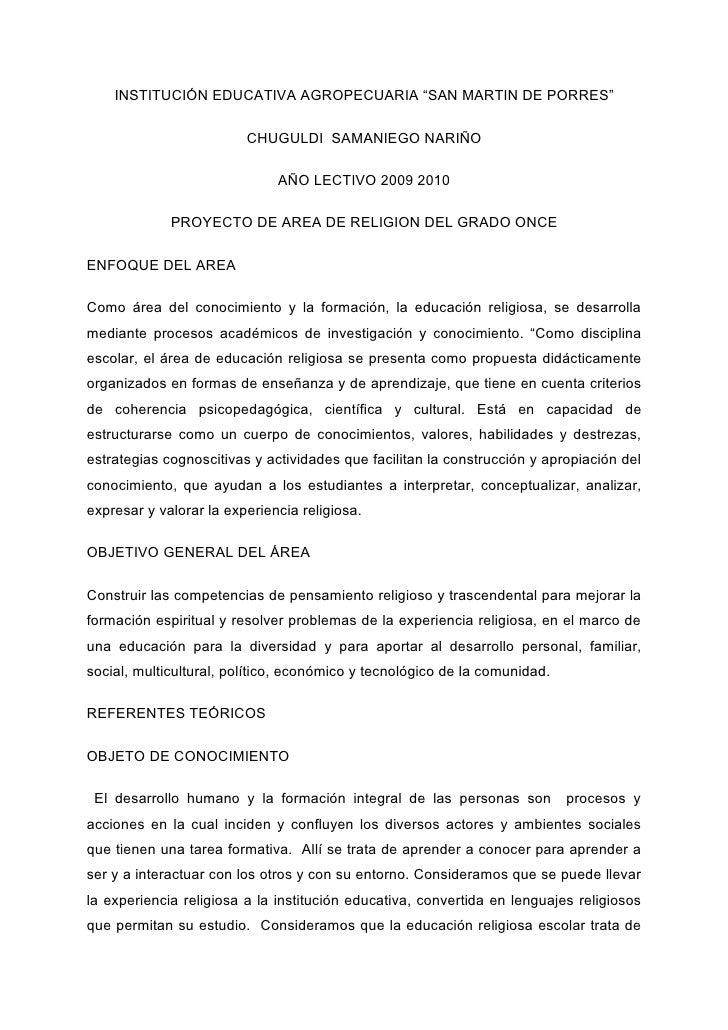 """INSTITUCIÓN EDUCATIVA AGROPECUARIA """"SAN MARTIN DE PORRES""""                           CHUGULDI SAMANIEGO NARIÑO             ..."""