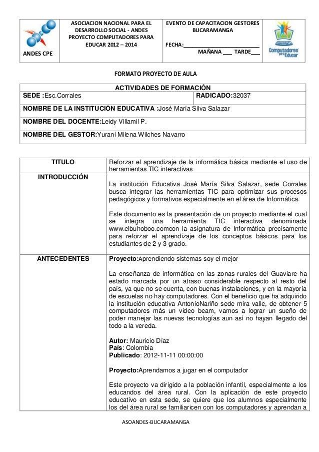 ASOCIACION NACIONAL PARA EL     EVENTO DE CAPACITACION GESTORES                DESARROLLO SOCIAL - ANDES              BUCA...