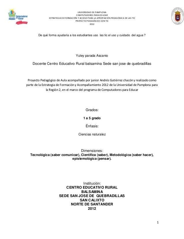 UNIVERSIDAD DE PAMPLONA                                      COMPUTADORES PARA EDUCAR               ESTRATEGIA DE FORMACIÓ...