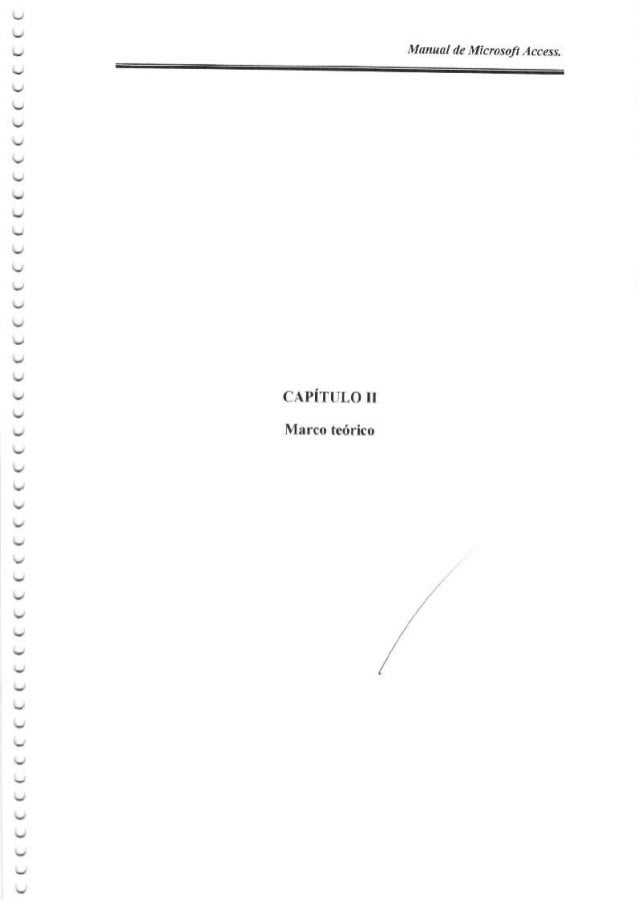 CAPITULO II Marco te6rico ソИα″″α′″ιMic″οsa/r ИcCess. /