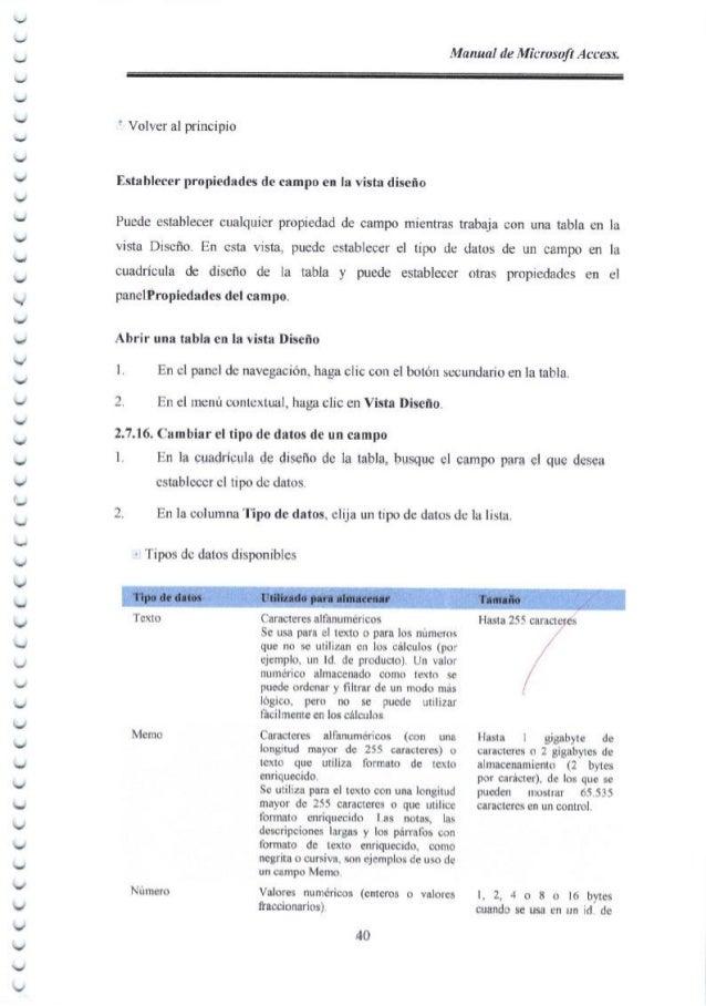 つ ' う ι ︶ ︶ ︶ ︶ ︶ ︶ ︶ ヽ ︶ ︶ ︶ ︶ ︶ ︶ ︶ ︶ ︶ し ︶ ︶ ︶ ﹀ ︺ ︶ ヽ ︶ ︶ ︶ ︶ ︶ Manual de Microsoft Access. t Volver al principio Esta...