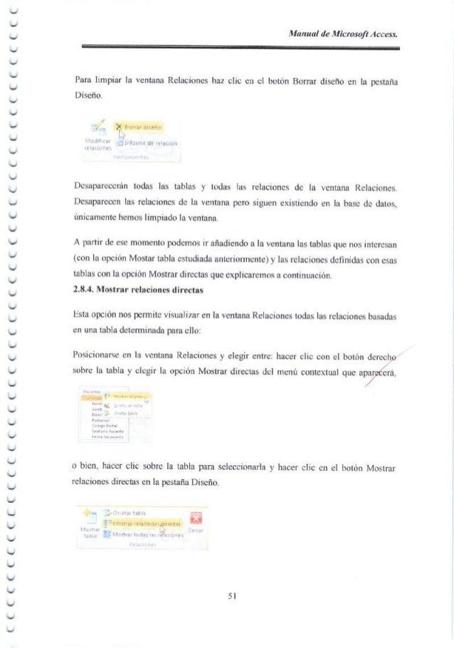 Manual de Microsofl Access. ︶ ︶ ︶ ︶ ︶ Una consr.dta se crea con un asistente o desde el principio en vrsta Disefio de cons...