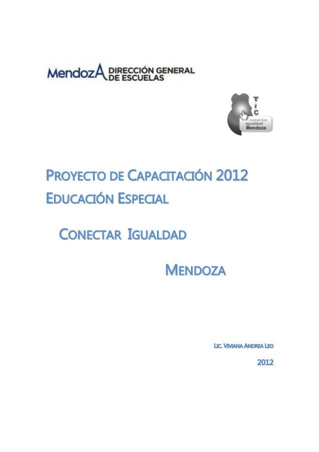 PPRROOYYEECCTTOO DDEE CCAAPPAACCIITTAACCIIÓÓNN 22001122 EEDDUUCCAACCIIÓÓNN EESSPPEECCIIAALL CCOONNEECCTTAARR IIGGUUAALLDDA...